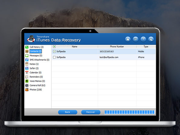 iTunes Data Recovery - Product Image