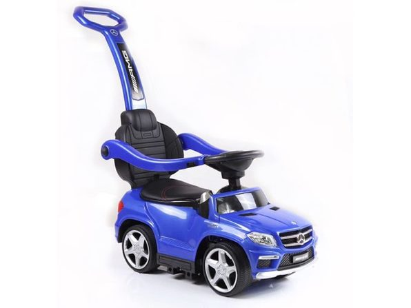 Best Ride On Cars 4 in 1 Mercedes Push Car with a Removable Stroller - Blue