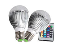 Color Changing LED Globe Bulb with Remote (2 pack) - Product Image