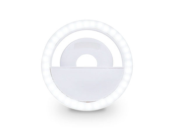 Clip On Smartphone LED Selfie Light (White)