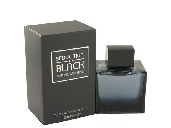 Seduction In Black by Antonio Banderas Eau De Toilette Spray 3.4 oz for Men (Package of 2) - Product Image