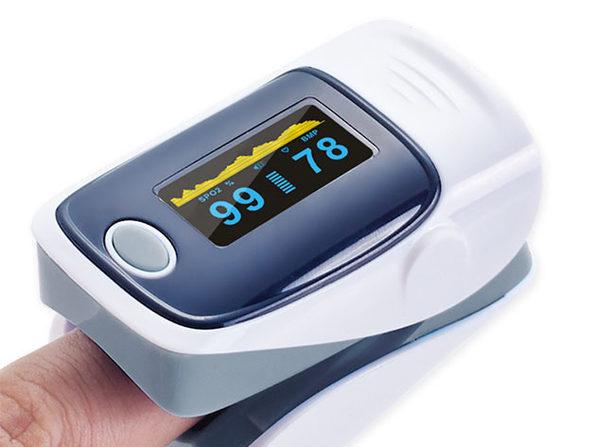 Fingertip Pulse Oximeter (Gray/2-Pack)