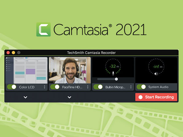 Camtasia 2021 Video-Making Software + One Year of Maintenance