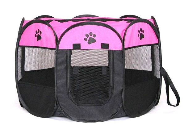 Portable Pet Tent (Rose Large) - Product Image