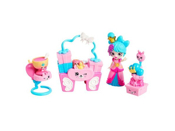Shopkins Happy Places Small Doll Playset with Accessories, 1-Pack Squirrel Palace Party,For Ages 4 and Up