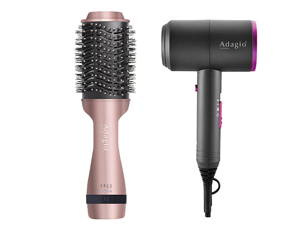 Adagio Blower Brush + Blow Dryer Bundle, on sale for $84.99 when you use coupon code MERRY15 at checkout