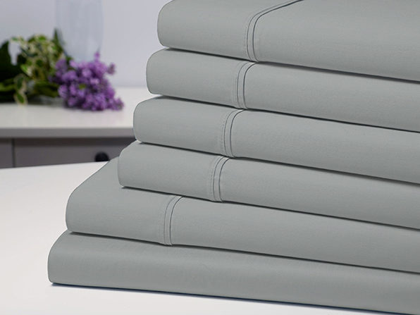 Bamboo Comfort 6-Piece Luxury Silver Sheet Set