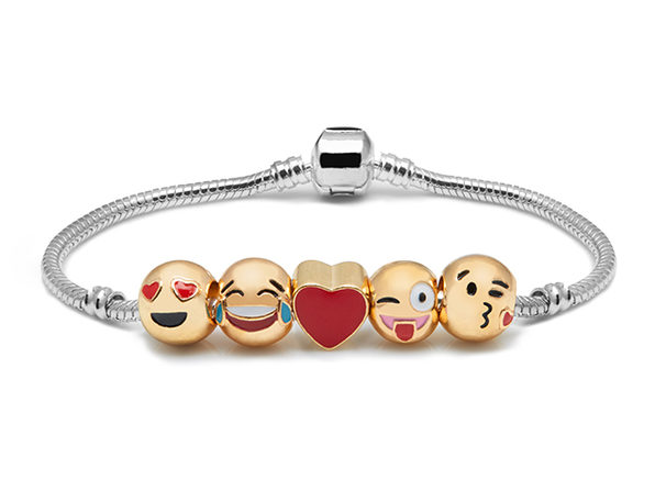 5 Emoji Bracelet with Charms - Product Image