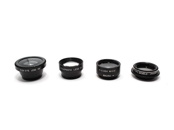 Clip & Snap Smartphone Camera Lenses: 5-Pack (Black) - Product Image