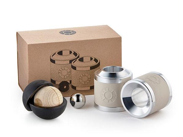 Skill Set Scientific Desk Toy + Magnet Shield (2-Pack/White)
