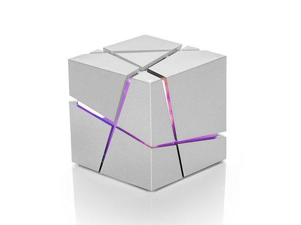 """The Cube"" Bluetooth Speaker (White)"