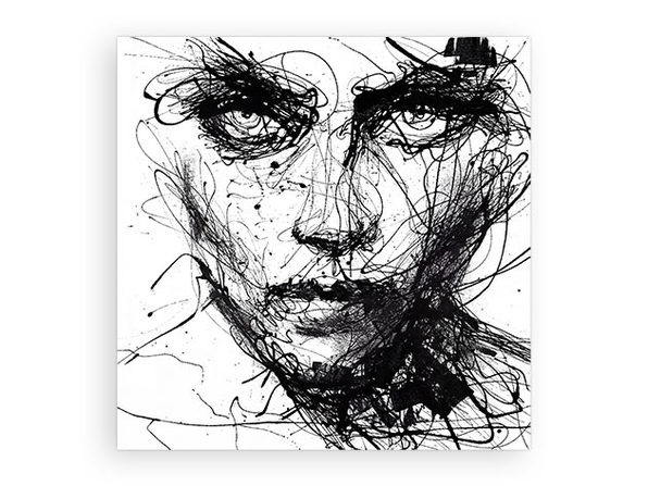 "Giant Art ""In Trouble She Will"" by Agnes Cecile"