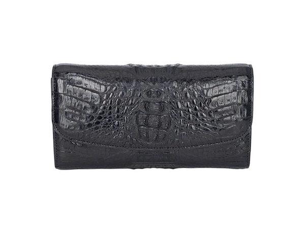 Andre Giroud exotic alligator ladies wallet - black - Product Image
