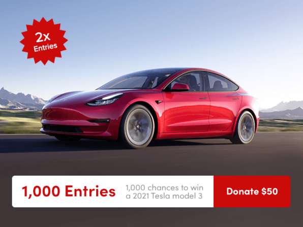 Tesla Donate $50 for 1000 Entries - Product Image