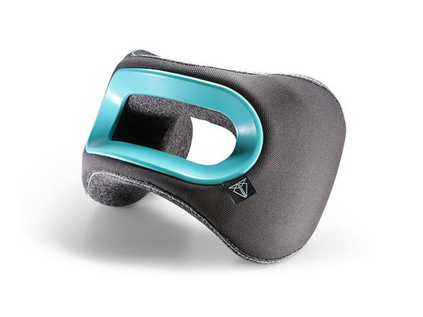 BullRest Memory Foam Travel Pillow (Blue)