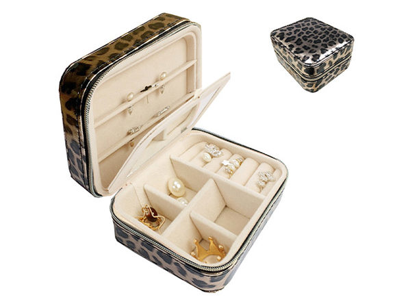 Cool Jewels Compact Jewelry Box - Leopard - Product Image