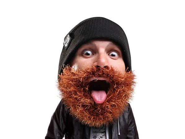 Beard Head® The First Ever Bearded Headwear: Bushy Biker (Brown)