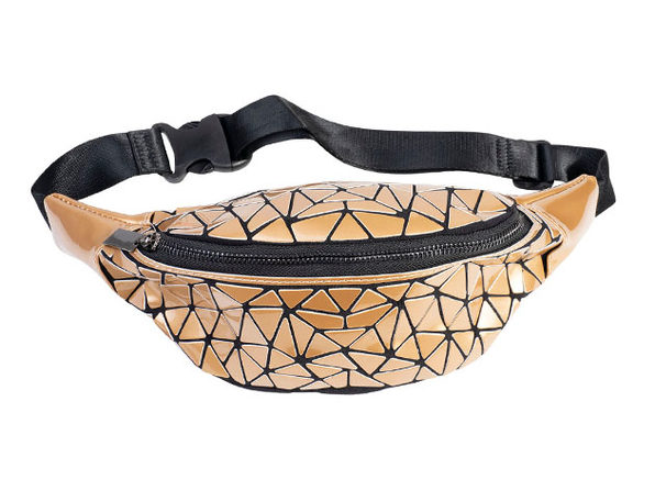 Geo Shaped Fanny Pack (Orange)