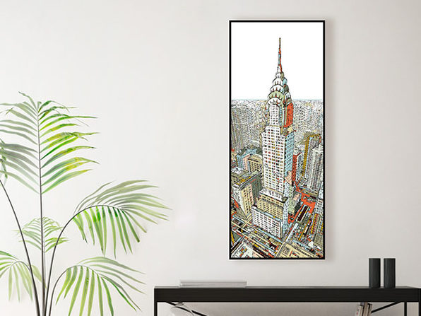 "Museum Mounted Canvas ""Manhattan"" by HR-FM"