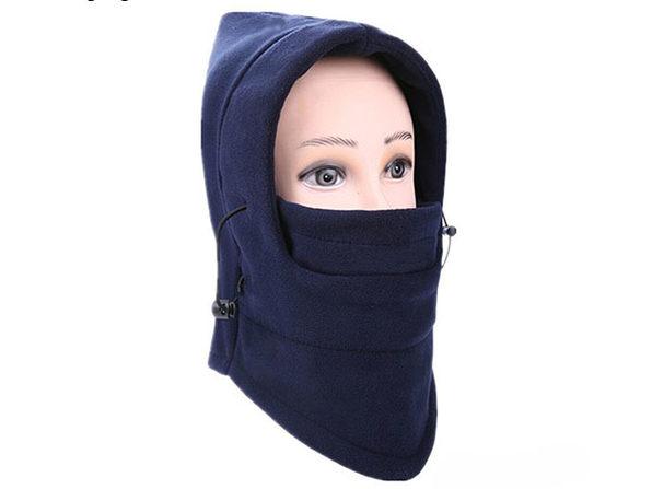 Full Cover Fleece Winter Mask (Navy Blue/2-Pack)