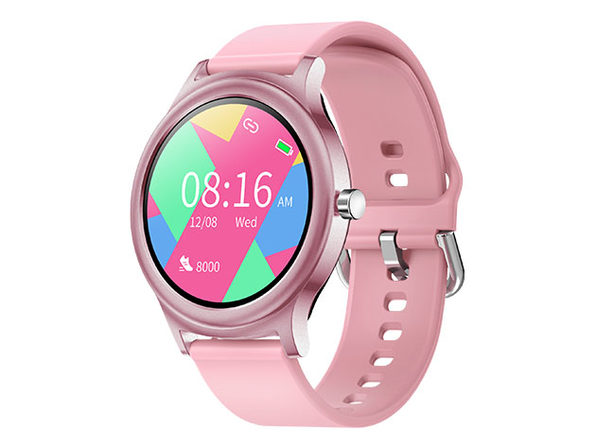 TouchTime Round Full Screen Smart Watch (Pink)