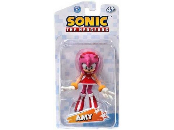 Sonic The Hedgehog Amy Rose 3.5 Inch Plastic Action Toy Figure - Product Image