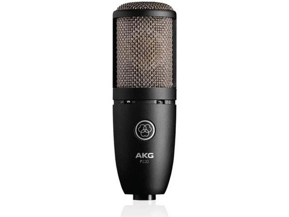 AKG 3101H00420 P220 Vocal Condenser Microphone Audio Frequency 20Hz-20kHz, Black (Used, Open Retail Box)