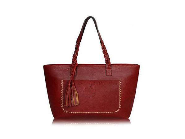 Vintage Handbag Tote (Red)