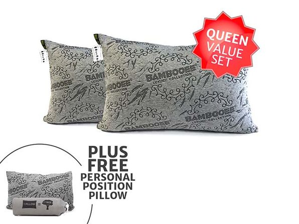 Bambooee® Queen Pillows Adjustable Value Set