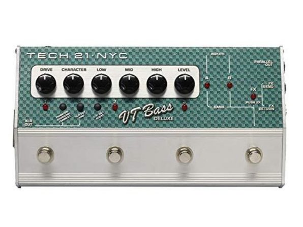 Tech 21 CS-VTB-DLX Analog SansAmp Character Series - VT Bass Deluxe, Silver (Like New, Damaged Retail Box)