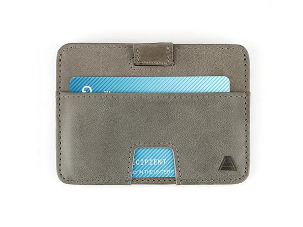 The Turner: Slim Leather Wallet (Stone Grey)
