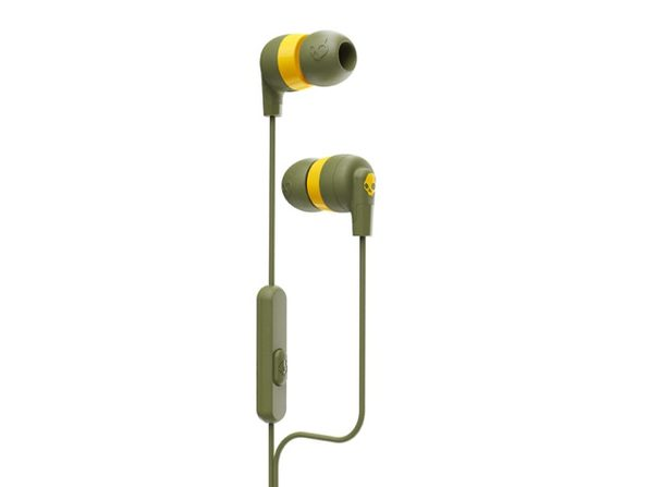 Skullcandy Ink'd®+ Earbuds with Microphone (Olive)