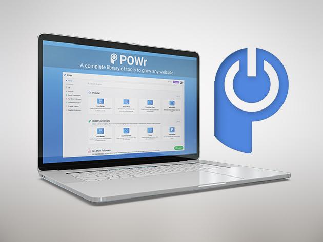 Stack Social Deal for POWr Website Plugins Starter Plan: Lifetime Subscription