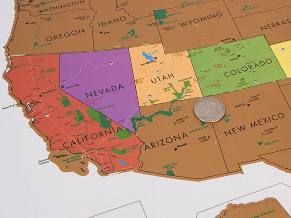 World Travel Tracker Scratch Off Map® (US National Parks)   Joyus