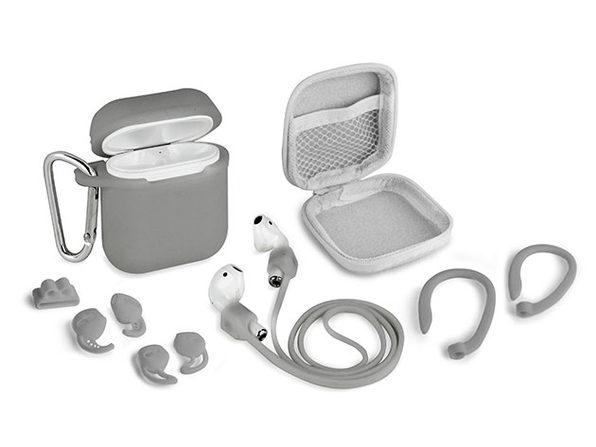 Aduro AirPods 8-Piece Accessory Bundle (Grey)