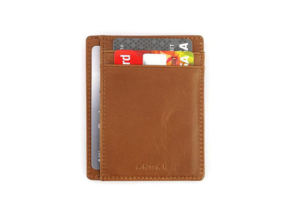 The Scout: Slim Leather Wallet (Tan)