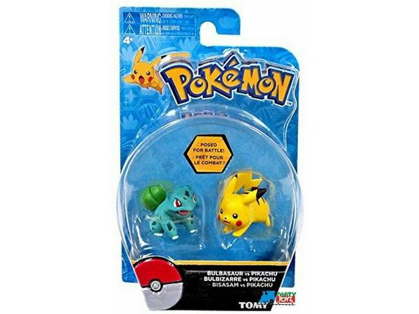 Pokemon 2 Pack Plastic Figures - Bulbasaur vs. Pikachu - Product Image