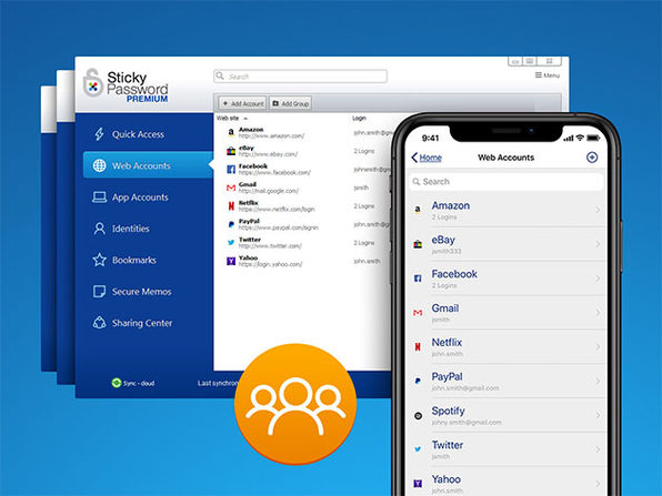 Sticky Password Premium: 3-Yr Subscription - 2 Users