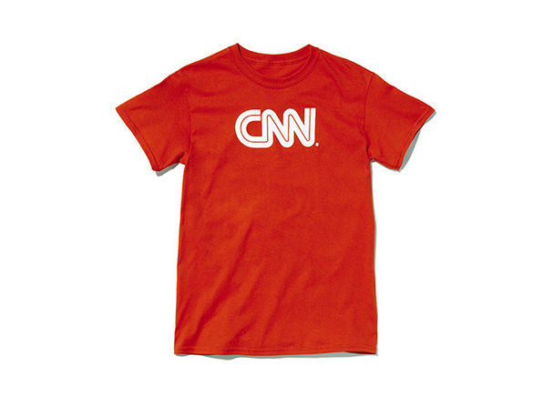 CNN Basic Tee  Red S - Product Image