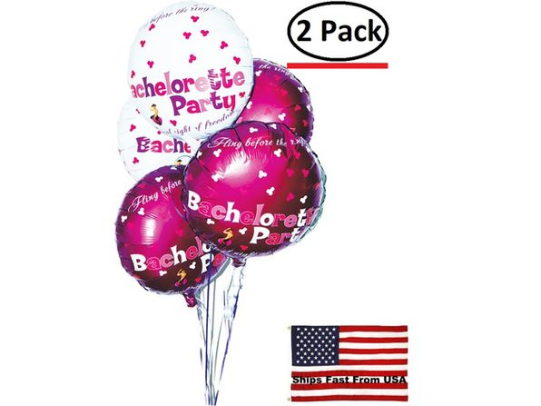( 2 Pack ) Bachelorette Party Foil Balloons 9 Pack Assorted  Colors - Product Image