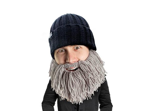 Beard Head® The First Ever Bearded Headwear: Barbarian Vagabond (Grey)