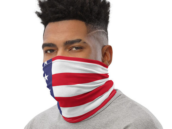 Reusable Cool Face Cover / Neck Gaiter (American Flag)
