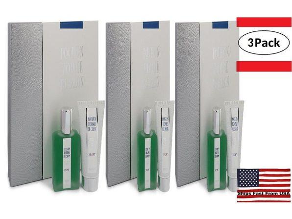 3 Pack Caron Pour Homme Sport by Caron Gift Set -- 2.5 oz Eau DE Toilette Spray + 2.5 oz Shower Gel for Men