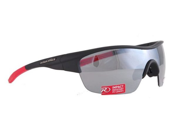 Rawlings 10211097.SPT Mens Adult Sport Sunglasses  Black/Red - Product Image
