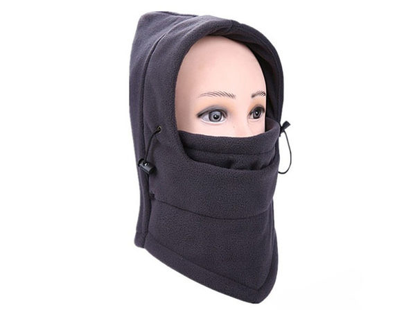 Full Cover Fleece Winter Mask (Grey/2-Pack)