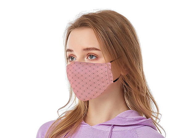 Reusable Face Masks with Adjustable Ear Loops: 2-Pack (Pink)