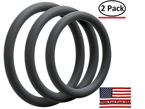 ( 2 Pack ) Optimale 3 Ring Set - Thin - Slate