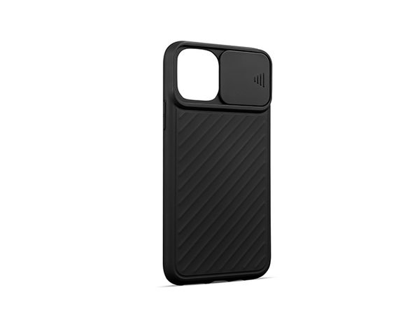 iPhone Case with Camera Cover (iPhone 12 Pro Max/Black)