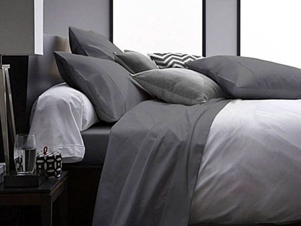 Ultra Soft 1800 Series Bamboo Bed Sheets: 4-Piece Set (King/Grey) - Product Image