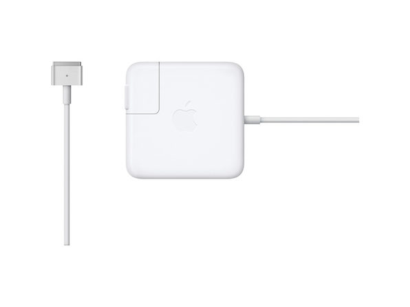 Apple 45 Watt MagSafe 2 Power Adapter with Magnetic DC Connector for MacBook Air, Designed To Be The Perfect Traveling Companion, White (New Open Box) - Product Image